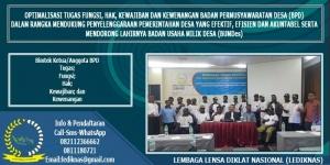 Bimtek Anggota Badan Permusyawaratan Desa (BPD)