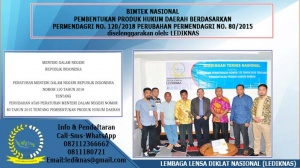 Bimtek Pembentukan dan Penyusunan Produk Hukum Daerah