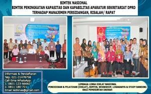 Bimtek Peningkatan Kapasitas dan Kapabilitas Aparatur Sekretariat DPRD Terhadap Manajemen Persidangan, Risalah Rapat