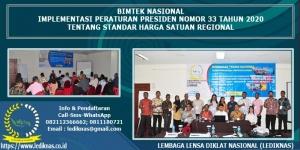 Bimtek Standar Harga Satuan Regional Perpres 33 Tahun 2020